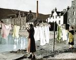 011 A post war december monday washday at the old town