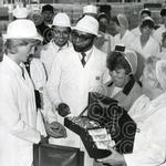 12. Diana Princess of Wales presented with gifts at Kei