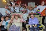 261404LA Trinity House Care Home mexican wave as part o