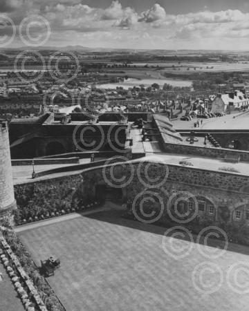 Looking East Over the Ramparts of Stirling Castle 1956.jpg