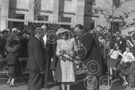 A young Queen Elizabeth at Camperdown Park, Dundee, 194