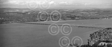 1. Aerial view of the Tay Road Bridge from Dundee (1966