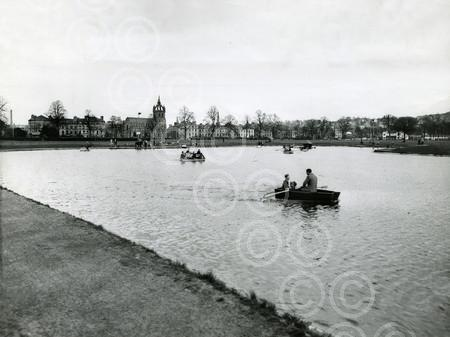 4. APR - H313 1957-04-09 Boating on the South Inch Pond