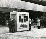 25 A lottery kiosk at the Overgate shopping precinct in