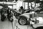 A group of children admire the vintage cars at Glasgow