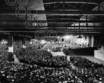 A large audience attended a Billy Graham crusade which