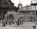 13. The Aberdeen Caledonian Pipe Band marching and play