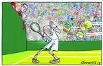 Blower cartoon jeremy corbyn wimbledon 8 july 2019.jpg