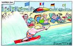205126399 Blower Cartoon summer fun boris johnson beach