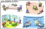 228425561__blower cartoon social distancing at home 24
