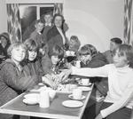66 1691 Children enjoy tea at the opening of Nicholfore