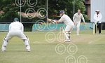 Mark Wragg is made to miss from Wickersley bowler Chris
