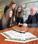 Mikeys Line Tain pupils cheque 01.JPG