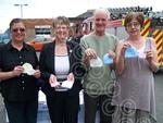 Members of Reach, Jennifer, Peter and Sue with Cllr Joy