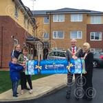 Stephens Close. Mayor and Mayoress and Jeanette Sutclif