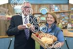 Fergus Ewing meets Ciara Gorst, Co-op's head of agricul